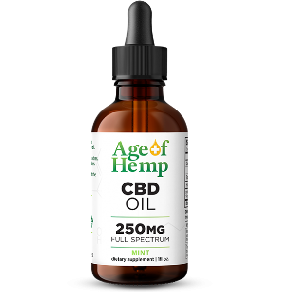 250MG CBD Oil Tinctures by Age Of Hemp