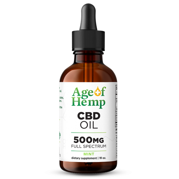 500MG CBD Oil Tinctures by Age Of Hemp