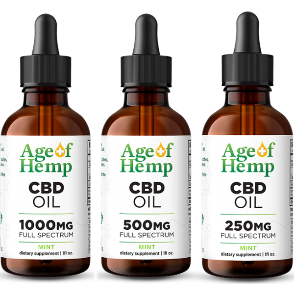 CBD Oil Tinctures by Age Of Hemp
